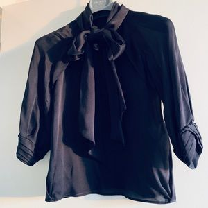 Gucci silk bow blouse NWOT